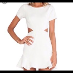 Lovers + Friends Off White Cut Out Dress